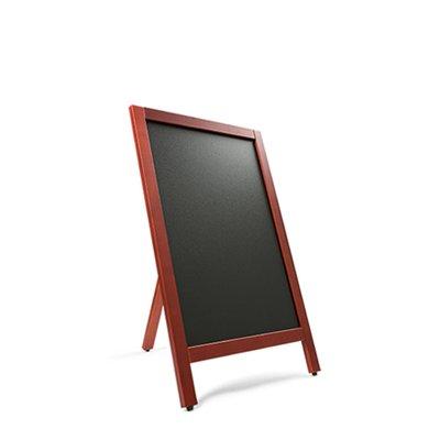 Krijtstoepbord MAHONIE enkelzijdig 55x85cm