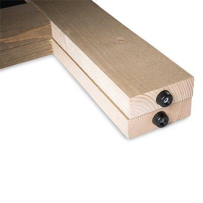 Krijtstoepbord Steigerhout Deluxe 135x75cm